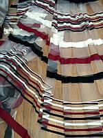 Тюль фатин бордово-черный, фото 1