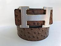 Кожаный ремень Hermes, длина 105-125 см. Ширина 4см.
