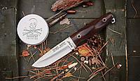 Нож нескладной Гриф, с клинком из стали 8Cr13MoV и деревянной рукояткой, кожаный чехол в комплекте