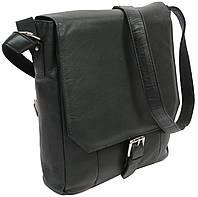 Кожаная мужская сумка 5747-1-spn черная