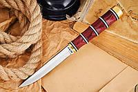 Нож нескладной Соболь, обладает прекрасными разделочными свойствами и рукоять защищена латунным больстером