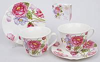 Чайный набор 4пр.: 2 чашки 220мл + 2 блюдца BonaDi 393-E74
