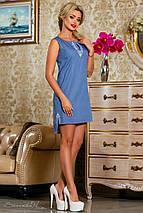 Летнее платье без рукавов с удлиненной спинкой (2254-2661-2660 svt), фото 2