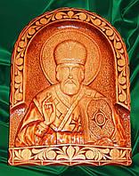 """Икона из натурального дерева """" Николай Чудотворец """""""