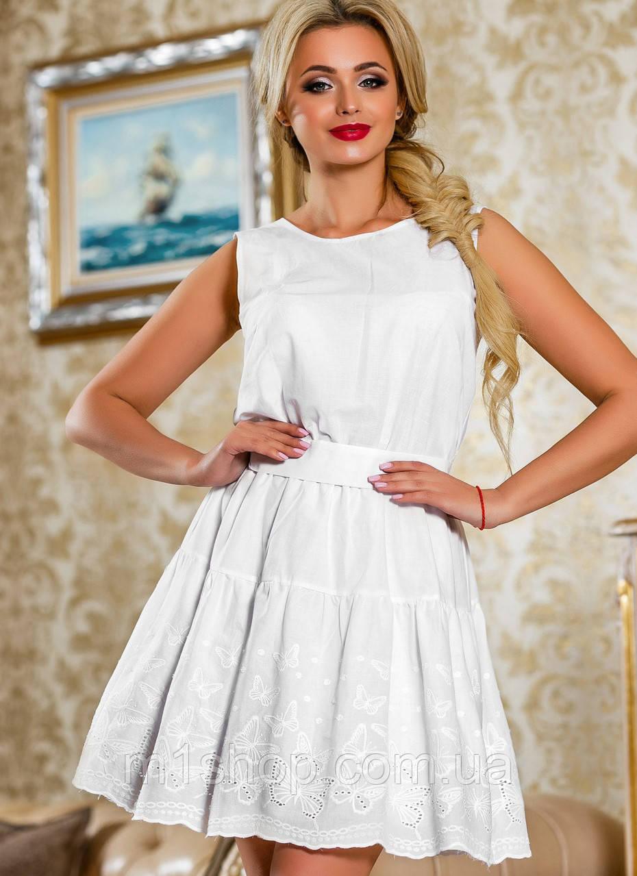 Женское натуральное летнее платье из батиста (2261-2263-2259 svt)