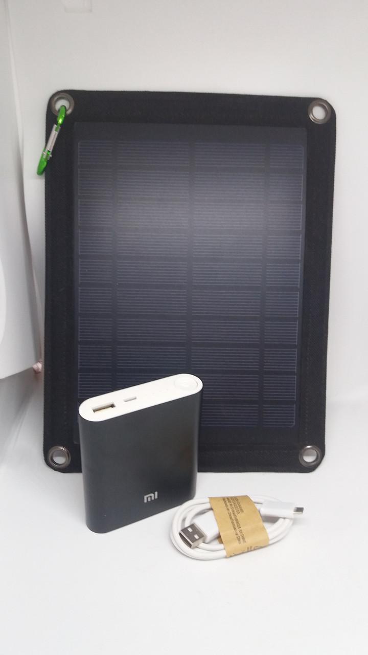 Солнечная панель CE 5W5V + Повер банк 10400mA Копия (10400mA реальная емкость)