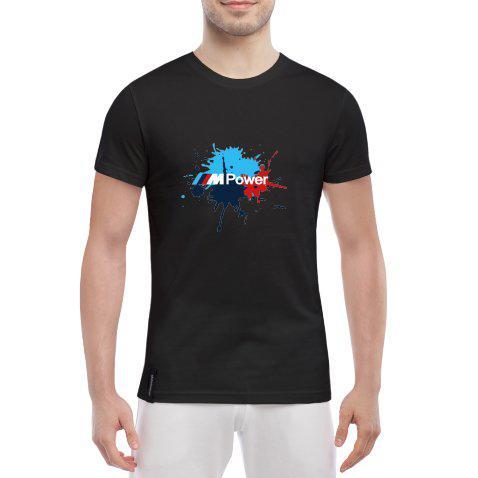 d61125341dfe9 Мужская футболка с прикольными надписями BMW Color Splash -