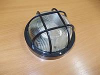 Светильник НПП2602 чёрный/круг с решеткой, фото 1