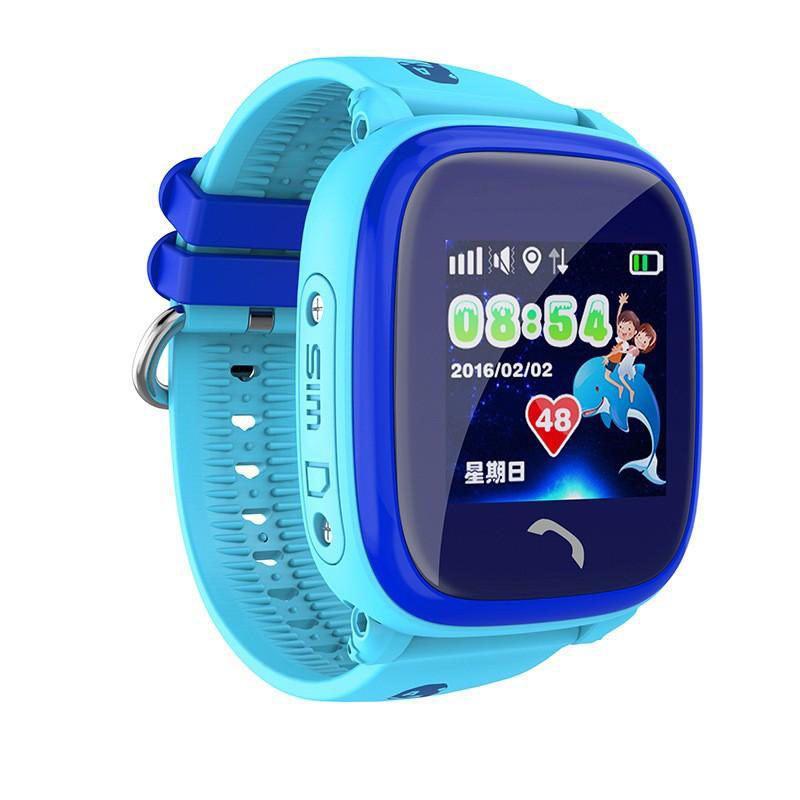 Детские смарт-часы DF25 Aqua с GPS Синие (13348)