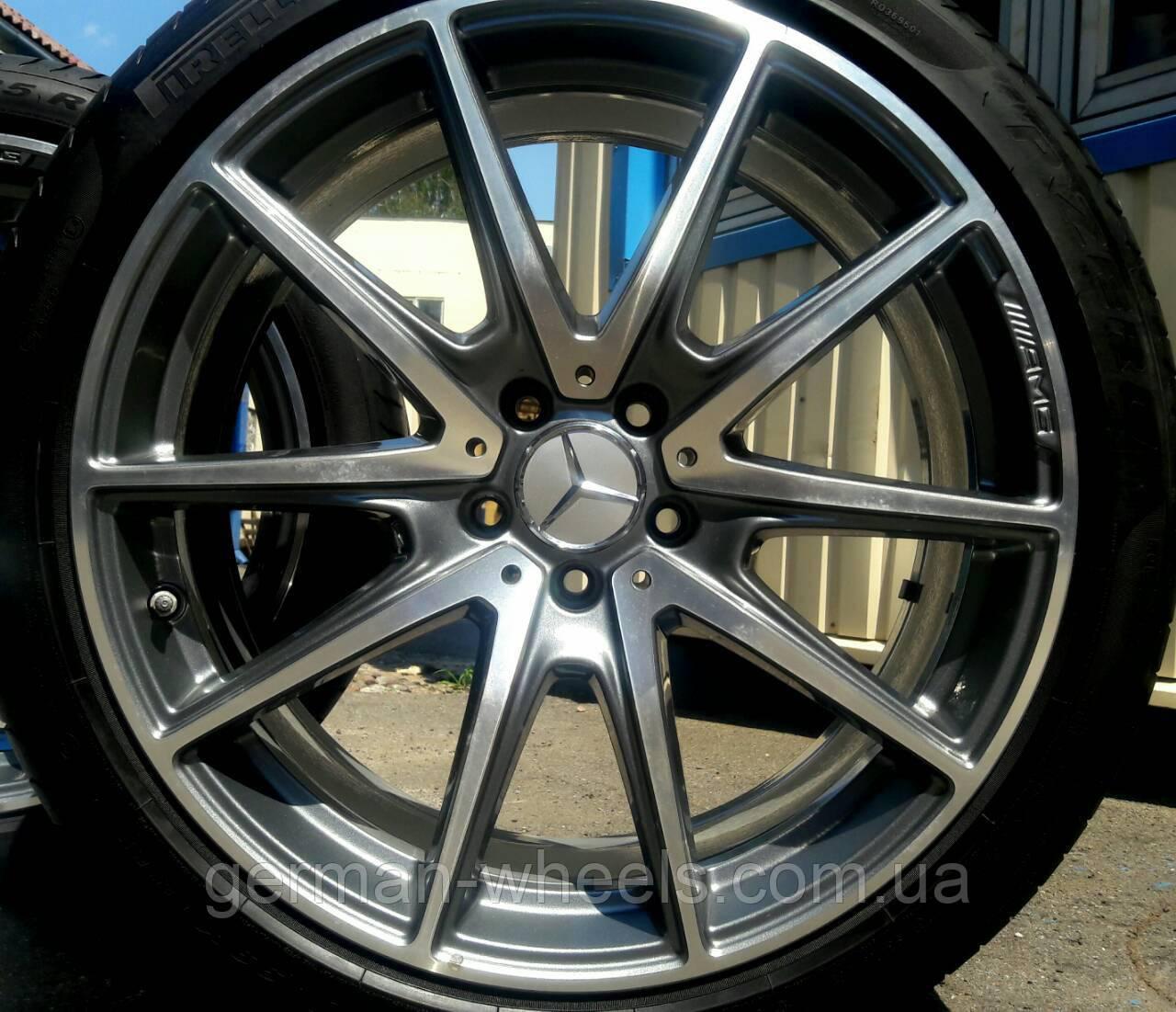 """20"""" оригинальные разноширокие колеса на Mercedes W222 AMG"""