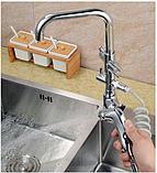 Смеситель для кухонной мойки с лейкой 1-078, фото 4