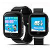 Детские умные часы-телефон с GPS трекером Smart Watch Q100 Чёрные, фото 4
