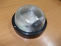 Светильник НПП2602А чёрный/круг без решетки пластик 60Вт, фото 1