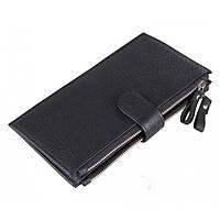 Кожаный кошелек TIDING BAG 8057A черный