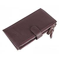 Кожаный кошелек TIDING BAG 8057C коричневый