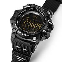 Умные часы EX16 - 1 год без подзарядки (Smart watch) шагомер, черные