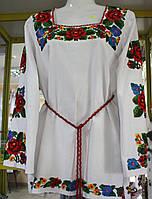 Вышиванка женская на полотне эксклюзивная (ручная, бисер)