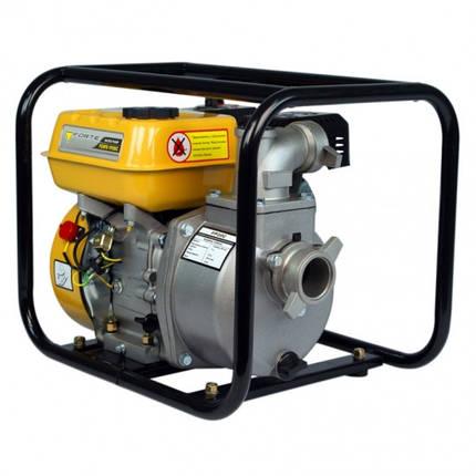 Мотопомпа 600 л/мин для полива огорода, перекачки воды FORTE FP20C (30 м3/час, 5,5 л.с.) бытовая Бензопомпа, фото 2