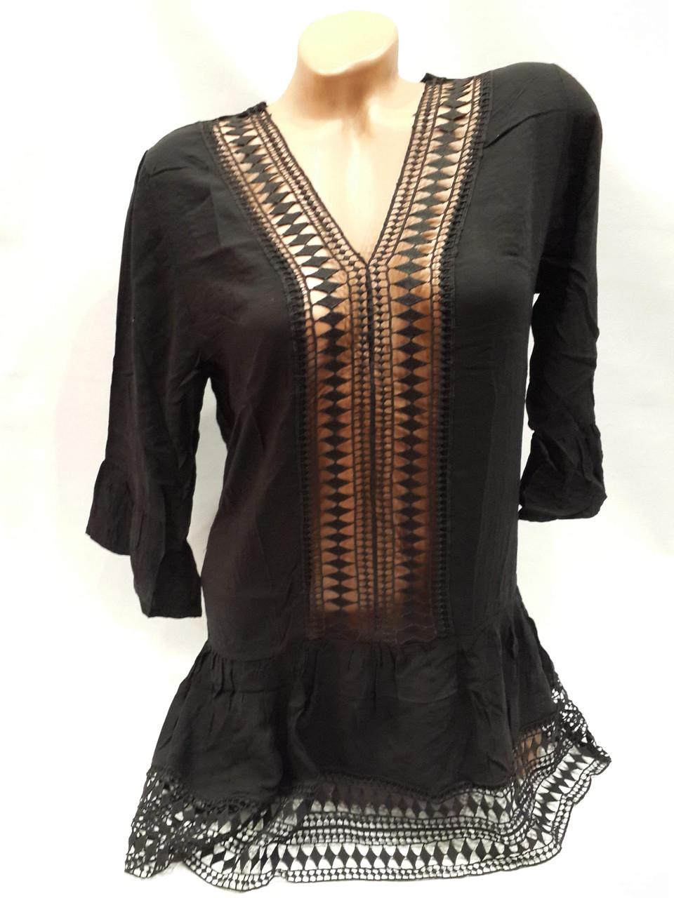 Платье пляжное Прорези черное на наши 44-50  размеры.