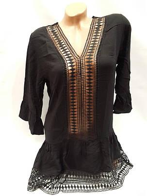 Платье пляжное Прорези черное на наши 44-50  размеры., фото 2
