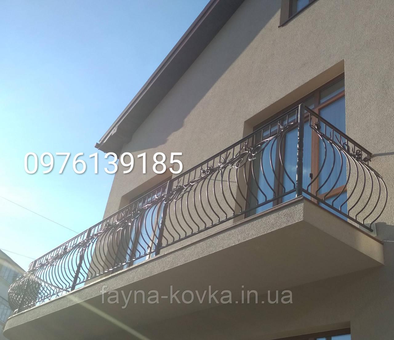 Перила кованые, балконные ограждения 197
