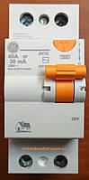 УЗО 2 полюса 40А 30мА Устройство защитного отключения Domus General Electric