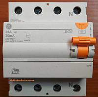 УЗО 4 полюса 25А 30мА Устройство защитного отключения Domus General Electric