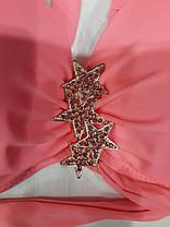 Купальник 7230 Звёзды двусторонние плавки розовый  на наши 42  размеры., фото 3