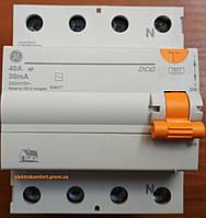 УЗО 4 полюса 40А 30мА Устройство защитного отключения Domus General Electric