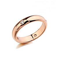 Кольцо обручальное покрытие золото 18К фианиты