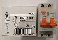 Дифференциальный автомат 2 полюса 16А 30мА  Domus General Electric