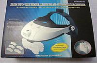 Бинокулярная лупа MG81001-H налобная с регулируемой LED подсветкой и набором линз, фото 1