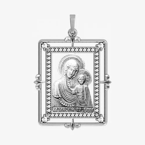 Ладанка серебряная Богородица ЛП-12