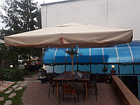Тент зонта 3,5х3,5м замена, ремонт