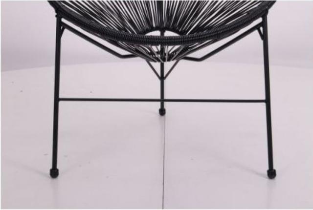 Стул Acapulco черный, ротанг черный (фото 10)
