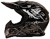 Мотошлем детский FXW HF-116 Черный с серым рисунком
