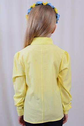 7708ebb9657 Красивая лимонная школьная блузка для девочки р.122-152  продажа ...