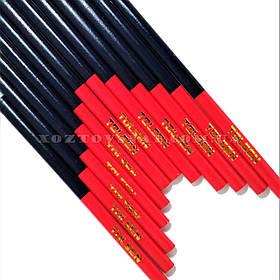 Комплект плотницких карандашей 180 мм овальные двухцветные 12 шт «Tolsen»