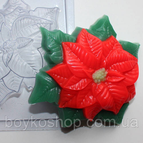 Форма для мыла пластик Пуансетия