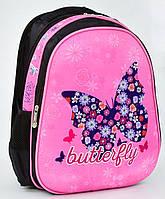 Школьный ранец 1, 2, 3 класс для девочек Рюкзак, портфель ортопедический Бабочка для школы