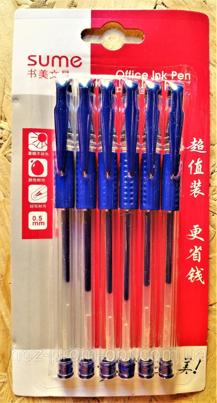 Гелевые ручки,- 6шт/уп.