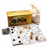 Настольная игра русское ЛОТО (картонная коробка,деревянные бочонки)