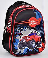Школьный рюкзак 1, 2, 3 класс для мальчика. Портфель ранец ортопедический полу каркасный Джип