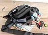 Кожаная мужская сумка - бананка для мужчин черная (2002ч), фото 6