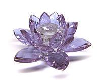 Статуэтка из хрусталя Лотос фиолетовый