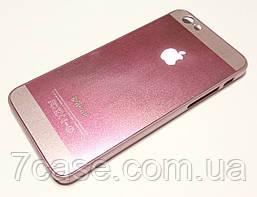 Чехол для iPhone 6 / 6s пластиковый с яблоком розовый металлик