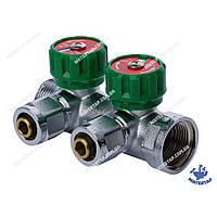 Коллектор вентильный с фитингом KOER KR.1121-2 3/4 x2 WAYS