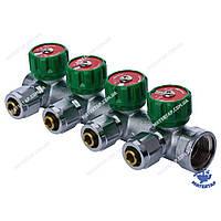 Коллектор вентильный с фитингом KOER KR.1121-4 3/4 x4 WAYS