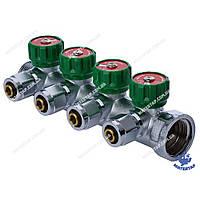 Коллектор вентильный с фитингом KOER KR.1122-4 1 x4 WAYS