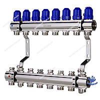 Коллекторный блок с термостатическими клапанами KOER KR.1100-08 1 x8 WAYS